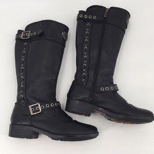 Harley Davidson Annadale Black Riding Boots 10